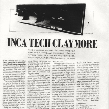 Inca Tech Claymore review