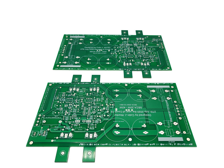 SECA amplifier PCB pair (DIY projects)