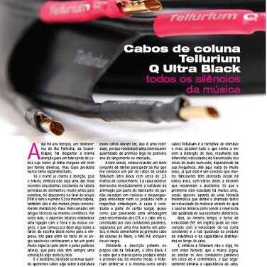 Tellurium Q high performance cable made by colin wonfor