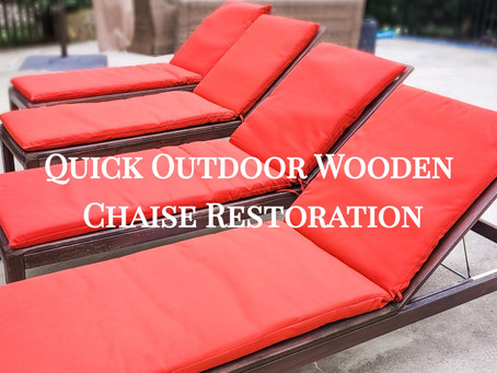 Quick Outdoor Wooden Chaise Restoration