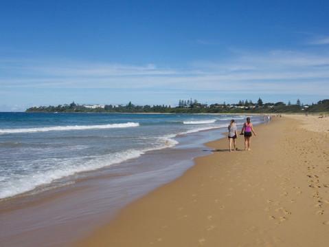 Strolling the beach at Culburra