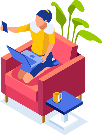 Working-at-Home-Isometric-People-Collect