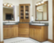 Custom bathroom cabinet by Nickols Cabinetry & Design, Inc.