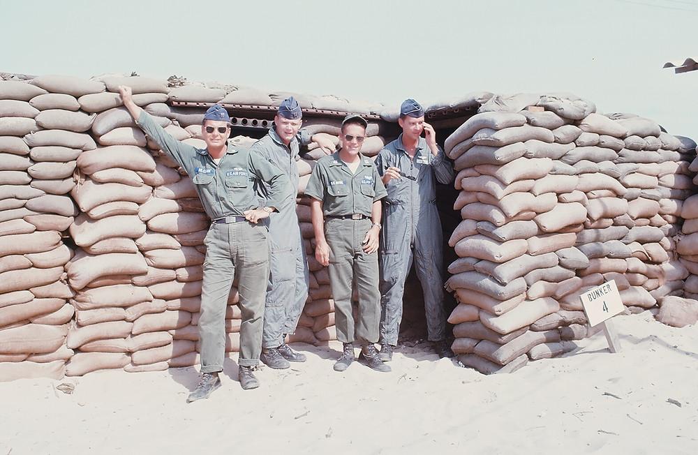 Guy S. Clarke, left, with colleagues in Vietnam, circa 1967.