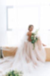 beautiful bride in a luxurious dress in