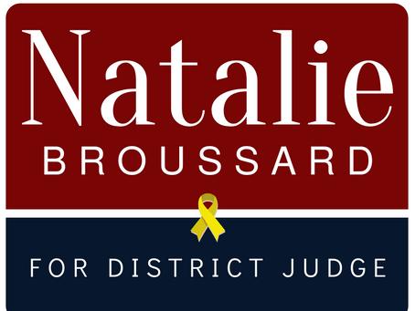 Natalie Broussard Announces Candidacy for District Judge.