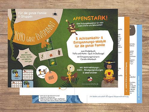 """5 Achtsamkeits- & Entspannungs-Module für die Familie: """"AFFENSTARK"""" (digital)"""