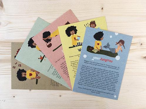Kinderyoga-Postkarten