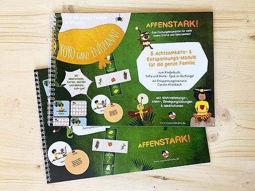 """5 Achtsamkeits- & Entspannungs-Module für die Familie """"AFFENSTARK"""" (print)"""