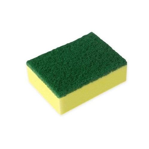 Esponja con brillo verde