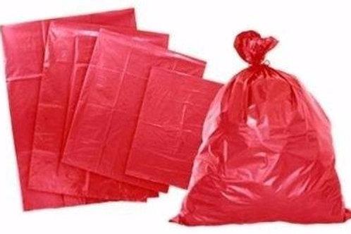 Caja Bolsas de basura 32x40 Rojas (250 Unid)