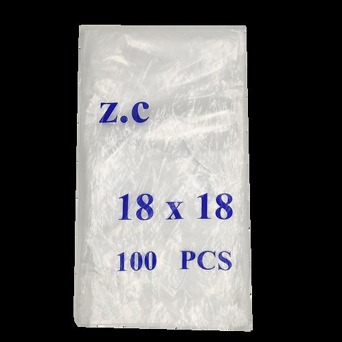 Paquete Bolsas de Basura 18x18 - 100 Unid transparentes