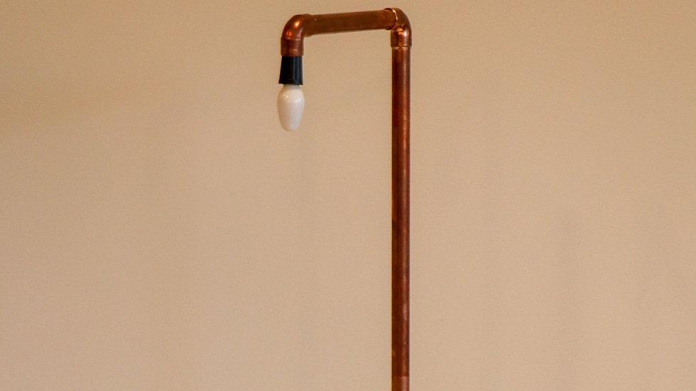 Copper pipes desk lamp