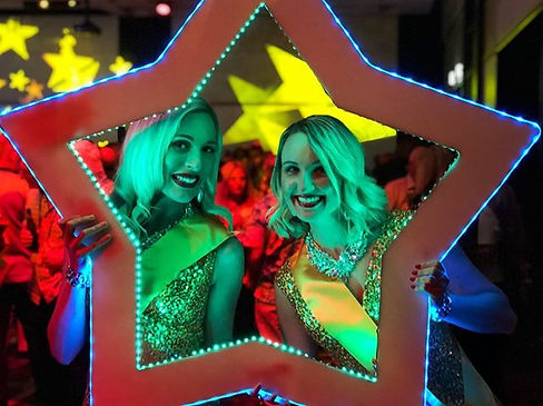 Our new LED Star Frame was out and about