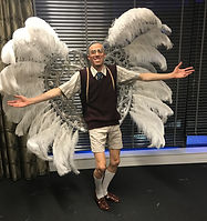 Bad grandpa, dancer, character performer, showgirl backpack, roving entertaiment, dance show, bespoke creation, different, event entertainment, Gold Coast, Brisbane, corporate entertainment, Class Act Creative