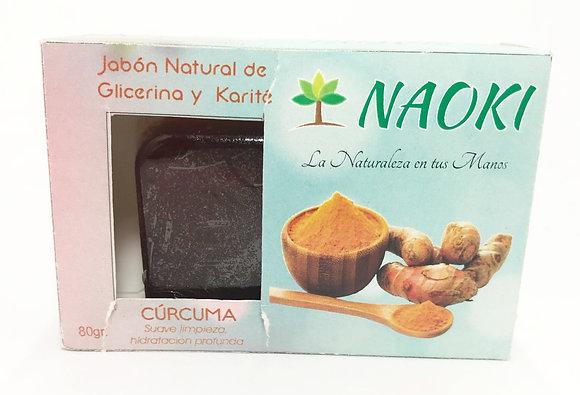 Jabón en Barra Cúrcuma 80 gr. NAOKI