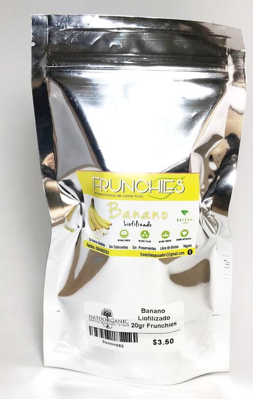Banano Liofilizado 20 g FRUNCHIES