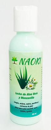 Leche de Aloe Vera y Manzanilla 100 ml Limpiadora NAOKI
