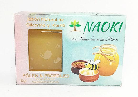 Jabón en Barra Polen & Propóleo 80 g NAOKI