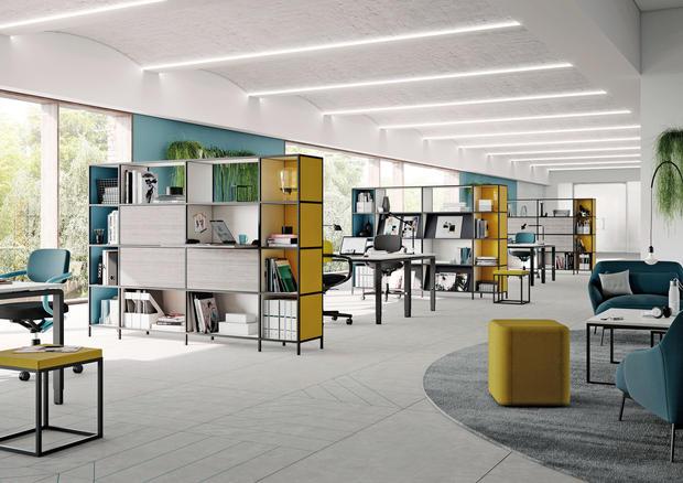 P4 Raumteiler für das Grossraumbüro
