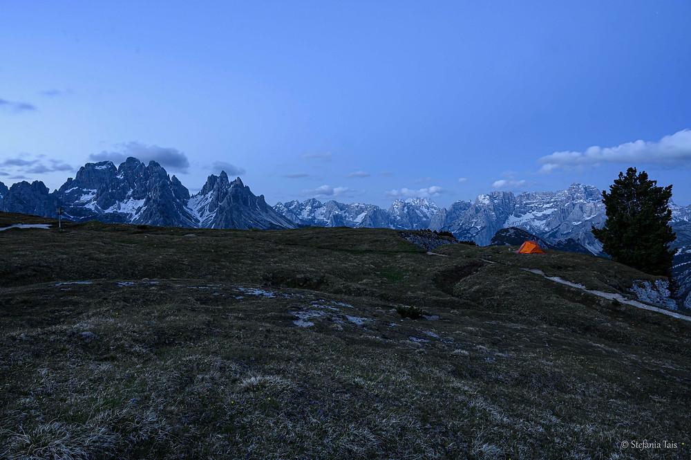 tenda sul Monte Piana