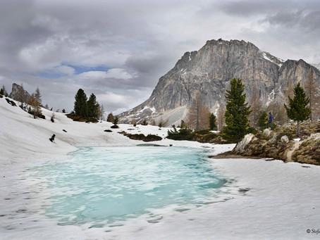 Alla ricerca della primavera, disgelo al lago Limedes