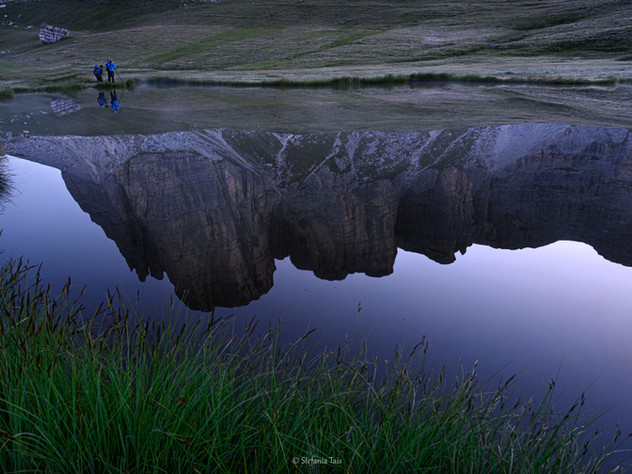 L'ora blu al lago delle Baste