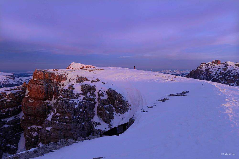 escursionistica sul Piccolo Lagazuoi all'alba