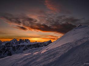 Alba invernale sul Nuvolau