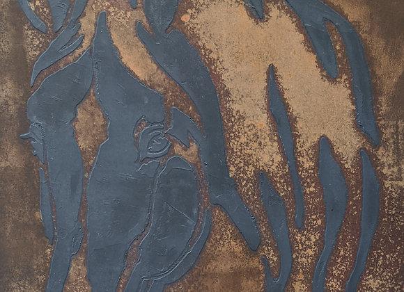 Abstract Rust Art Horse