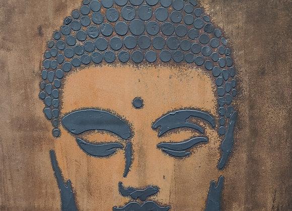 Abstract Rust Art Buddha
