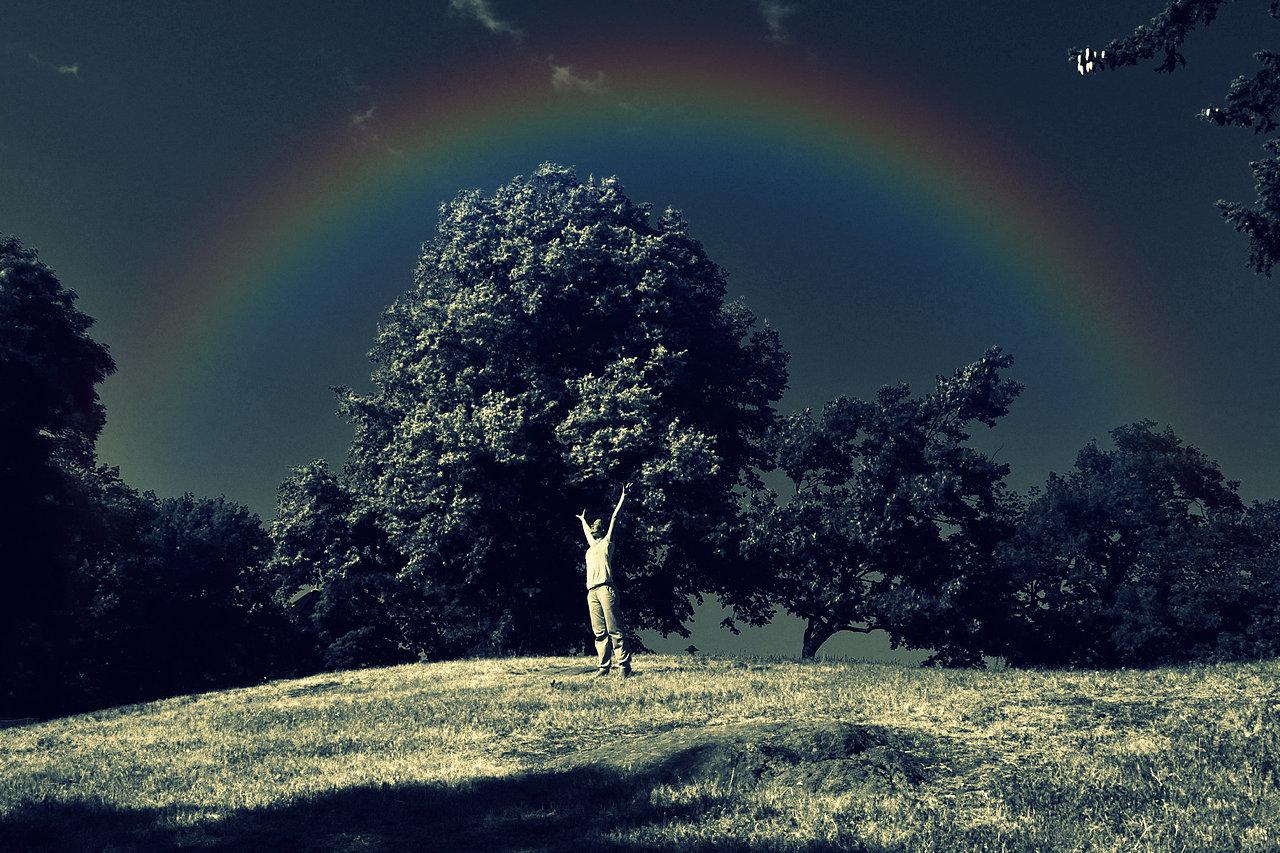1elvis+parco_bn+cross+process+and+rainbow