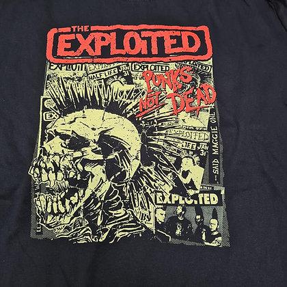 exploited punks not dead print official t shirt