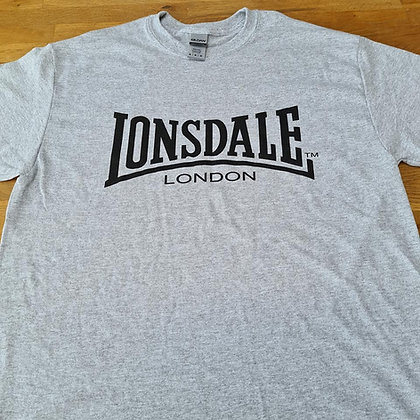 lonsdale grey and black t shirt