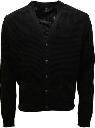 relco black waffle cardigans