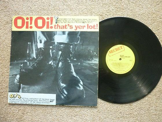 oi oi thats yer lot vinyl lp