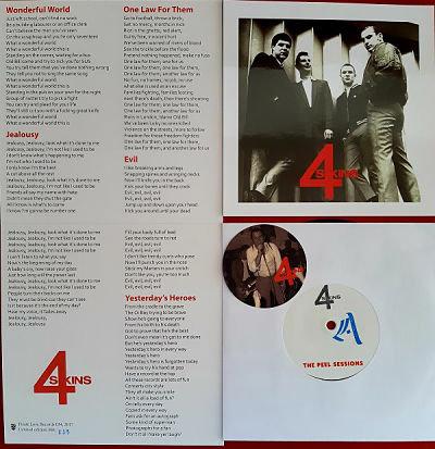the 4 skins peel sessions vinyl single