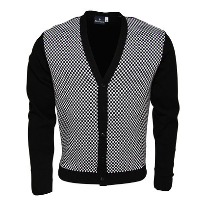 relco black and white check cardigan