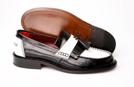 Delicious Junction Black and White Loafers