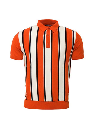 relco orange knitted polo shirt.