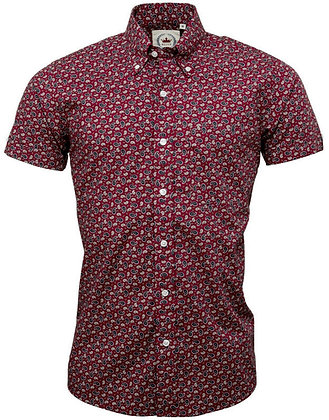 relco burgandy paisley shirt