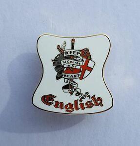keep saint george in my heart pin badge