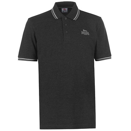 lonsdale dark grey polo