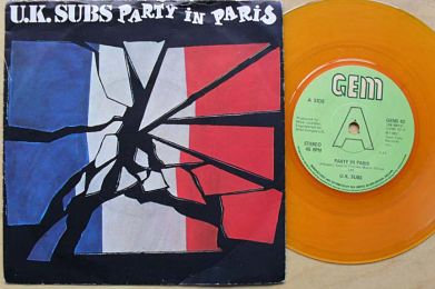 uk subs party in paris vinyl single