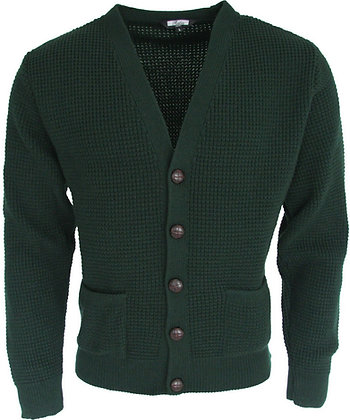 relco green waffle cardigans