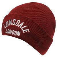 lonsdale burgundy hat