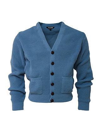 ice blue waffle cardigan