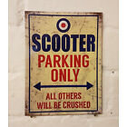 scooter parking sign