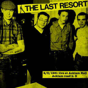 the last resort live at acklam vinyl album