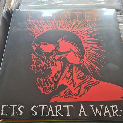 the exploited lets start a war vinyl lp